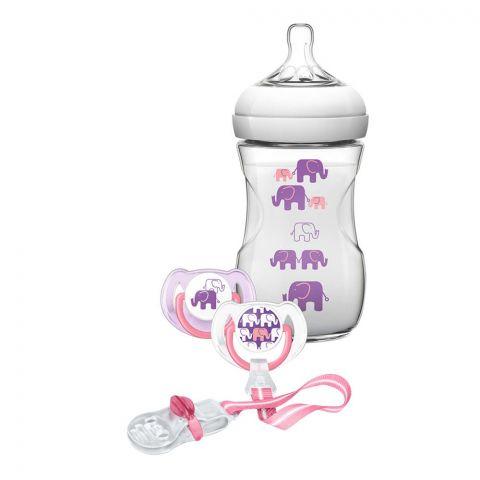 Avent Natural Elephant Design Feeding Gift Set, 1m+, SCD628/13