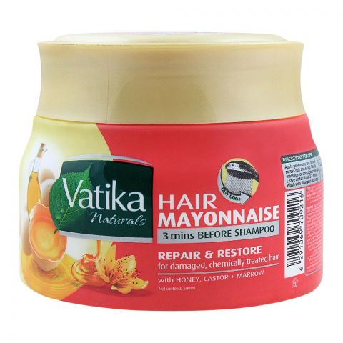 Dabur Vatika Hair Mayonnaise Repair & Restore Treatment, 500ml