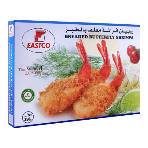 Eastco Breaded Butterfly Shrimps, 250g