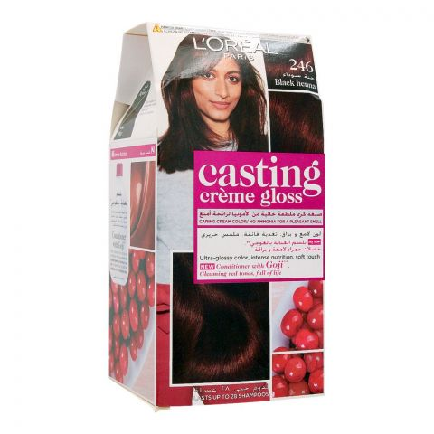 L'Oreal Paris Casting Creme Gloss Hair Colour, 246 Black Henna