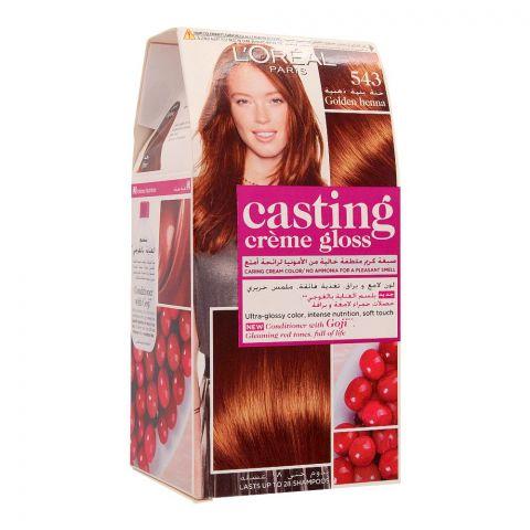 L'Oreal Paris Casting Creme Gloss Hair Colour, 543 Golden Henna