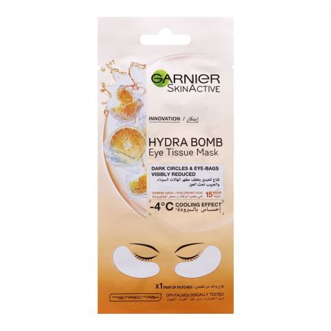 Garnier Skin Active Hydra Bomb Eye Tissue Mask, 6g