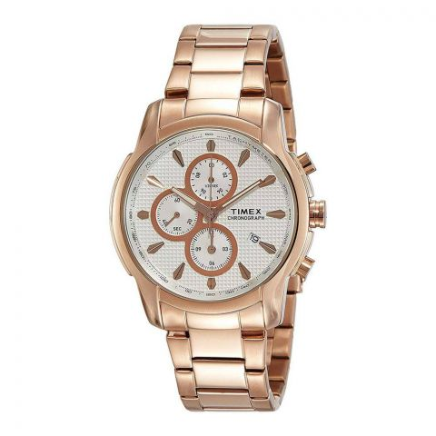 Timex Chronograph Rose Gold Dial Men's Watch - TW000Y515