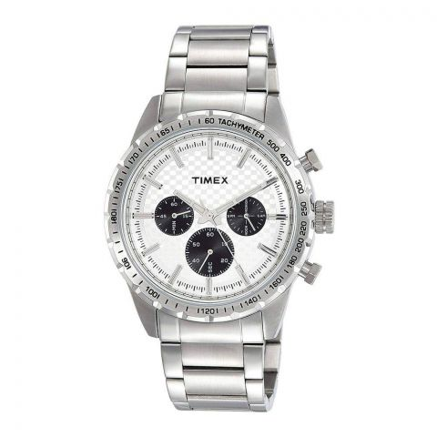 Timex Analog Silver Dial Men's Watch - TWEG15607