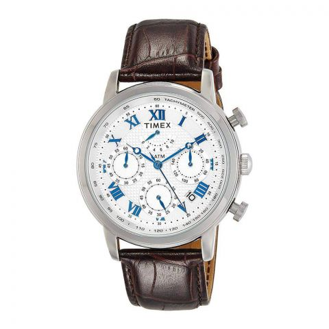Timex Analog Silver Dial Men's Watch - TWEG15800