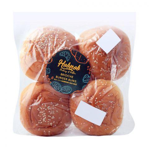 Hobnob Brioche Burger Buns, Large