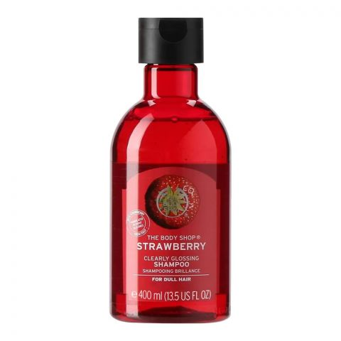 The Body Shop Strawberry Clearly Glossing Shampoo, For Dull Hair, 400ml