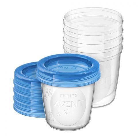 Avent 5 Reusable Breast Milk Storage Cups, 180ml/6oz, 0m+, SCF619/05