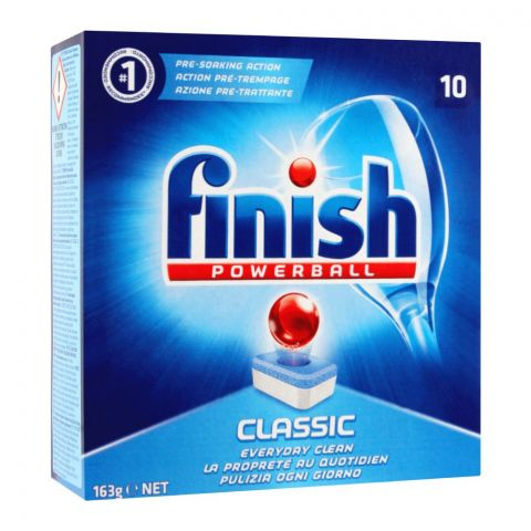 Finish Power Ball Classic Dishwasher Tablets, 10-Pack, 163g