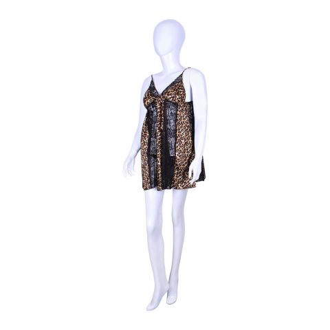 BLS Natasha Night Dress Leopard, BLS-24097