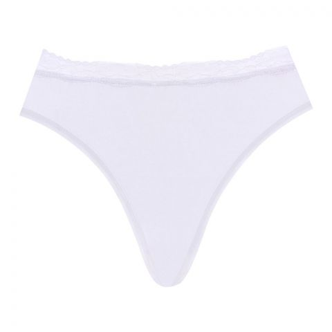 BLS String Front Lace Panty White, BLS-2020