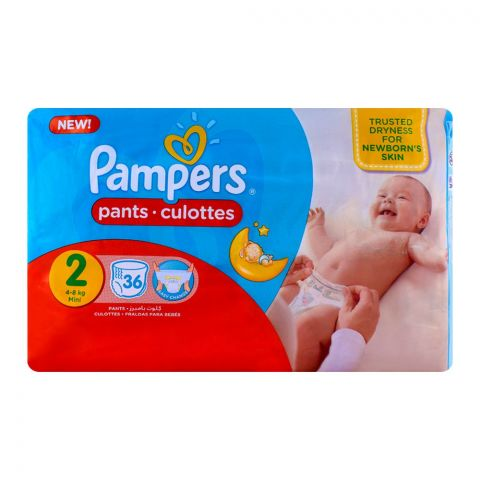Pampers Pants No. 2 Mini 4-8 Kg 36-Pack