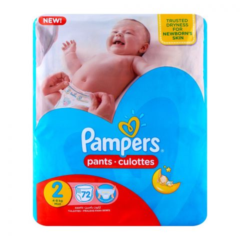 Pampers Pants No. 2 Mini 4-8 Kg 72-Pack