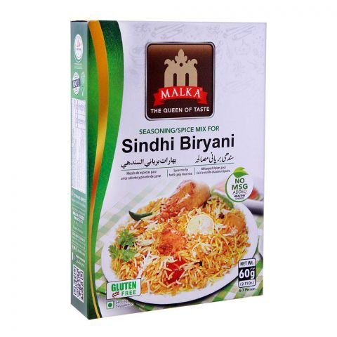Malka Sindhi Biryani Masala, Gluten Free, 60g