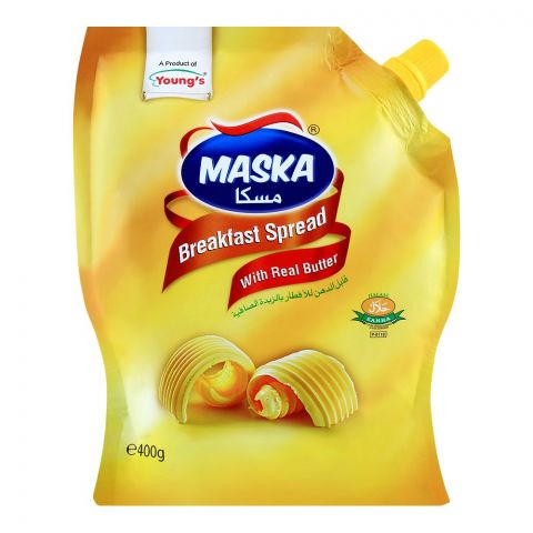 Young's Maska Breakfast Spread, With Real Butter, 400g