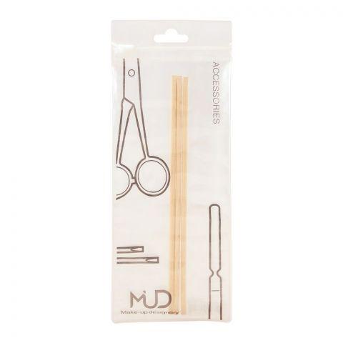 MUD Makeup Designory Orange Wood Stick, 3-Pack