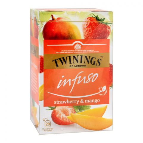 Twinings Infuso Strawberry & Mango Tea Bags, 20-Pack