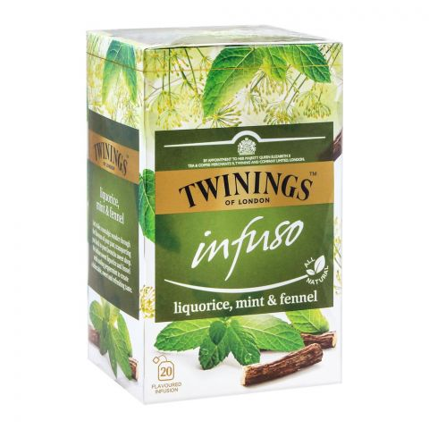 Twinings Infuso Liquorice, Mint & Fennel Tea Bags, 20-Pack