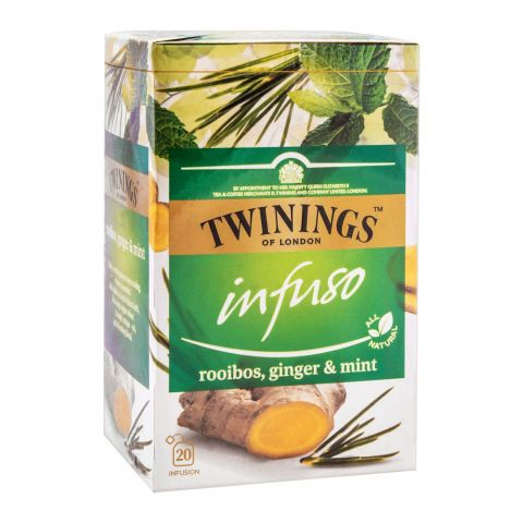 Twinings Infuso Rooibos, Ginger & Mint Tea Bags, 20-Pack