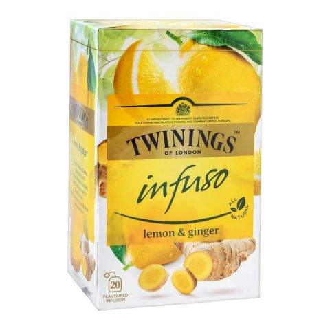 Twinings Infuso Lemon & Ginger Tea Bags, 20-Pack