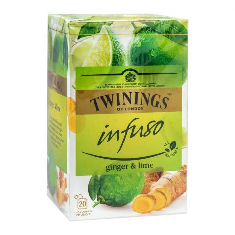 Twinings Infuso Ginger & Lime Tea Bags, 20-Pack