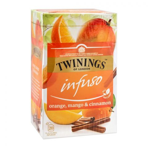 Twinings Infuso Orange, Mango & Cinnamon Tea Bags, 20-Pack