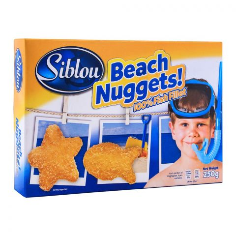 Siblou Beach Nuggets, 100% Fish Fillet, 250g