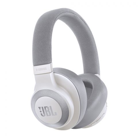 JBL Wireless Over-Ear NC Headphones White - E-65BTNC