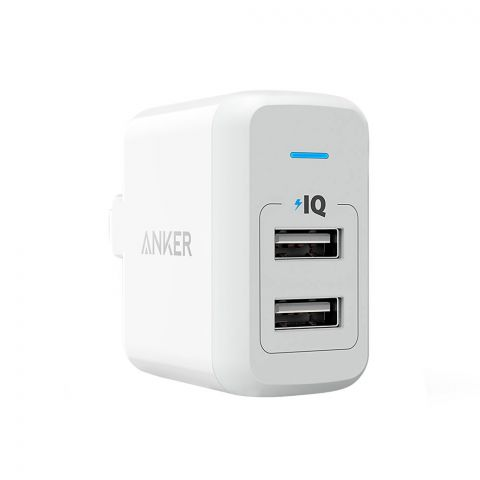 Anker Power Port 2 Lite Dual Port USB Wall Charger White - A2129J21