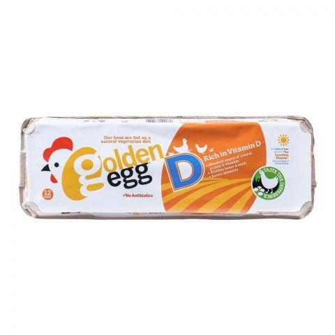 Golden Egg Rich in Vitamin-D Eggs, 12-Pack