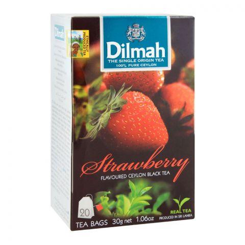 Dilmah Strawberry Flavoured Ceylon Black Tea, 20 Tea Bags