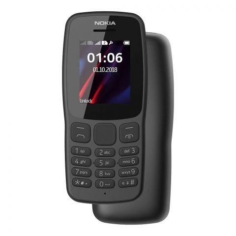 Nokia 106 Dual Sim Mobile Phone, Grey
