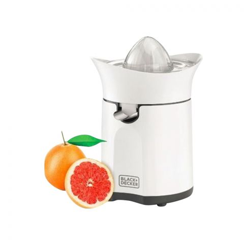 Black & Decker Juicer Citrus, White, 60 Watts, CJ800
