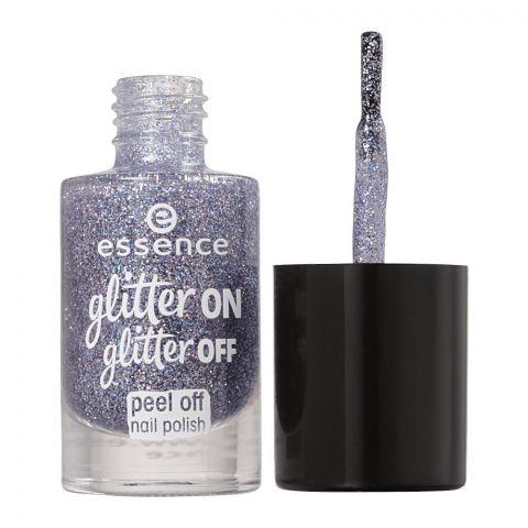 Essence Glitter On Glitter Off Peel Off Nail Polish, 05, Starlight Express