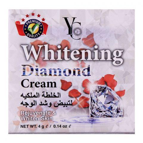 YC Whitening Diamond Cream, Rejuvenate & White Skin, 4g