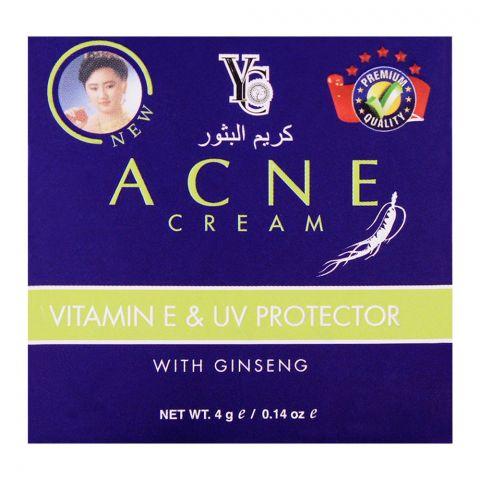 YC Acne Cream, Vitamin E & UV Protector, With Ginseng, 4g