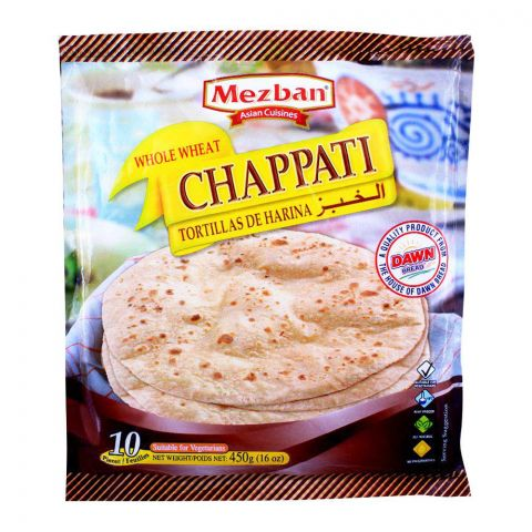 Dawn Mezban Whole Wheat Chappati 10 Pieces