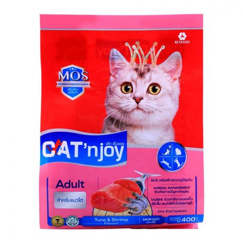 CAT'njoy Adult Tuna & Shrimp Flavor Cat Food 400g