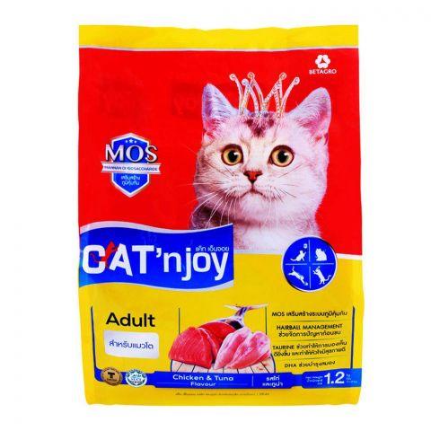 CAT'njoy Adult Chicken & Tuna Flavor Cat Food 1.2 KG