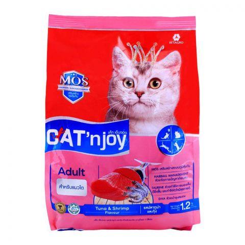 CAT'njoy Adult Tuna & Shrimp Flavor Cat Food 1.2 KG