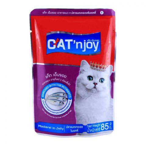 CAT'njoy Mackerel In Jelly Cat Food 80g