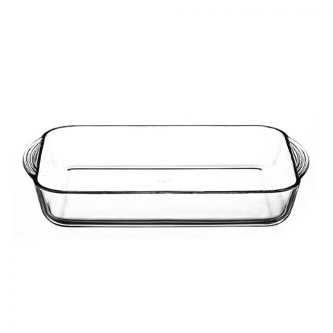 Borcam Ovenware Rectangular Tray, 15x9x2 Inches, 59124