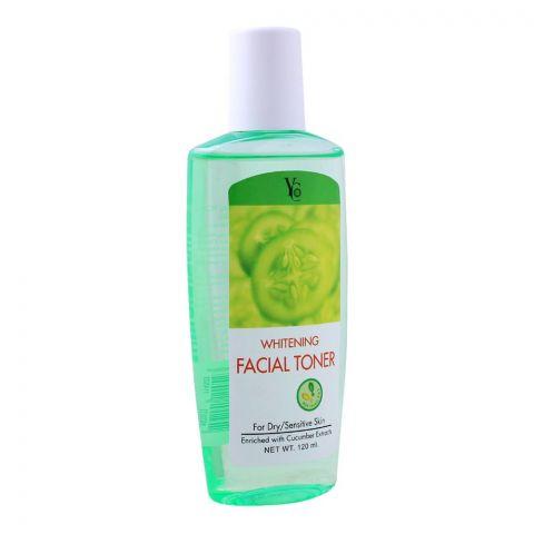 YC Whitening Facial Toner, For Dry/Sensitive Skin, 120ml