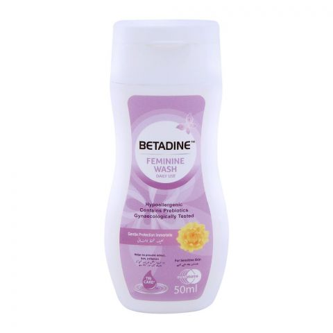 Betadine Feminine Wash Gentle Protection Foam 50ml