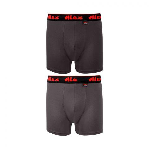 Alex Boxer Shorts, Double Pack, Medium, Mix Colour