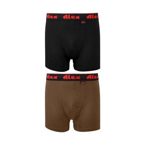 Alex Boxer Shorts, Double Pack, Large, Mix Colour