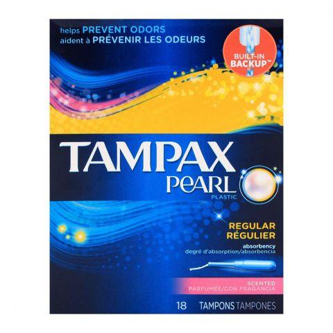 Tampax Pearl Plastic Regular Scented Tampons 18-Pack