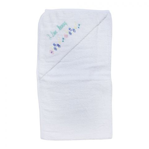 Angel's Kiss Textile Baby Bath Towel, White