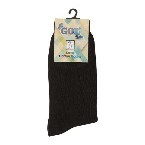 Gol Ladies Cotton Socks, Black