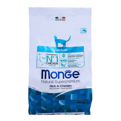 Monge Hairball Chicken Cat Food 400g
